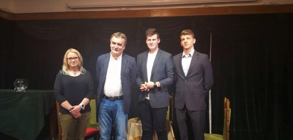 Uczniowie Informatyka na spotkaniu z Prezydentem Kielc Wojciechem Lubawskim