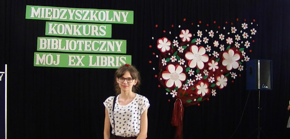 """Natalia Rusak laureatką III Międzyszkolnego Konkursu Bibliotecznego """"Mój ex libris"""""""