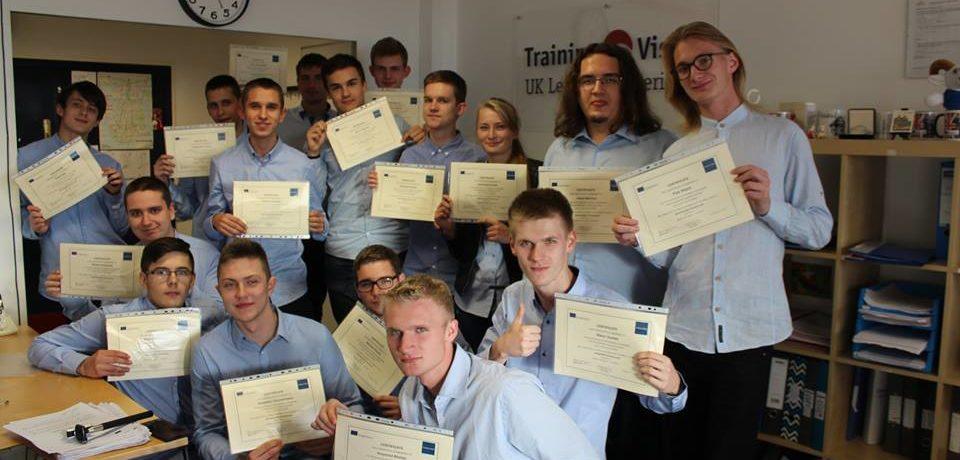 Rozdanie certyfikatów w Portsmouth