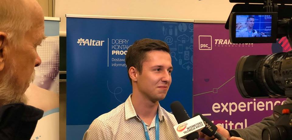Zwycięstwo Damiana Hrabąszcza w Świętokrzyskim Teście z Informatyki