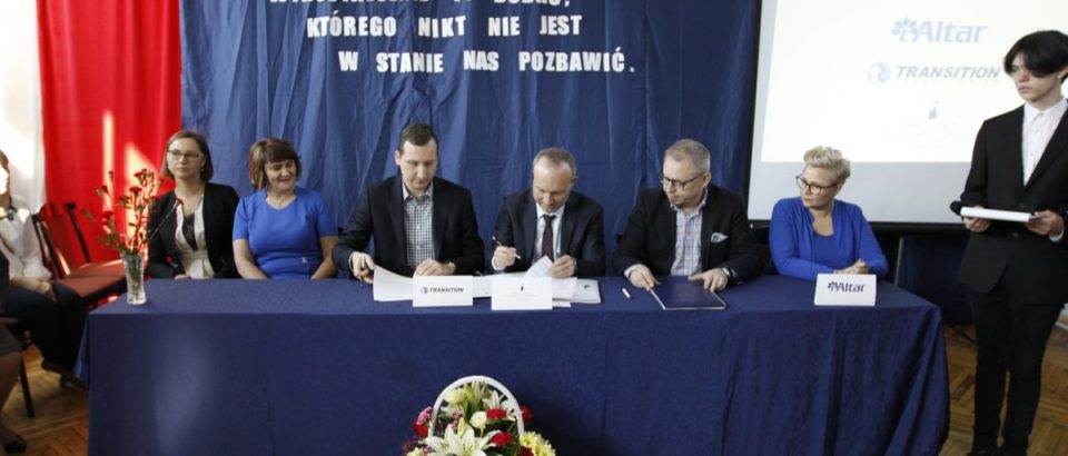 Podpisanie porozumienia o współpracy z firmami Altar oraz Transition Technologies PSC
